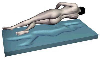 """Gel / Gelschaum Matratze """"DELUXE"""" Höhe 20 cm, 8 cm Gelschaum RG 85 Alternative zum Wasserbett günstig"""