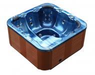 Outdoor Whirlpool Hot Tub Spa Troja mit 44 Massage Düsen + Heizung + Ozon Desinfektion für 6 Personen
