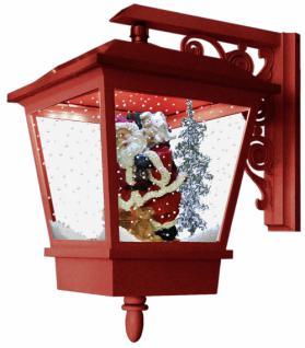 Schneiende LED Wandlaterne 45 cm Motiv Weihnachtsmann, rot, Indoor- und Outdoor