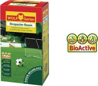 2 x Wolf Strapazier-Rasen LJ 50 à 1, 0 kg für ca. 50 m² - Vorschau