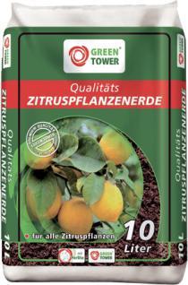 GREEN TOWER 10 x Qualitäts-Zitruspflanzenerde a 10 Liter