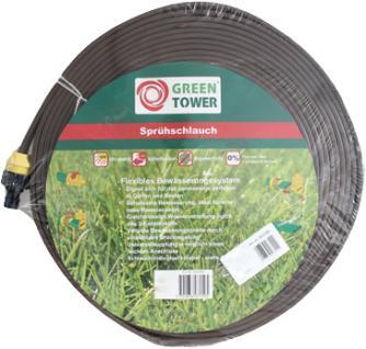 Greentower Sprühschlauch Rolle à 7, 5 m braun