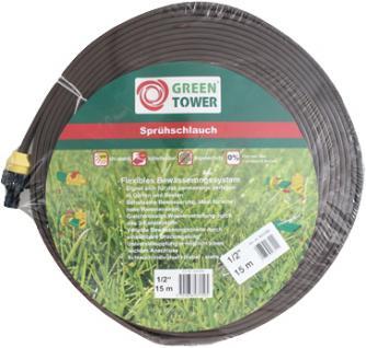 Greentower Sprühschlauch Rolle à 15, 0 m braun