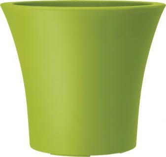 Emsa Blumenkübel City Curve, grün, Ø x H: 25 x 22 cm