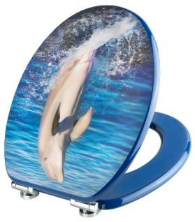 Toilettendeckel WC Deckel WC-Sitz MDF DELFIN in 3D-Dekor