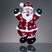 LED-Weihnachtsmann holografisch aussen