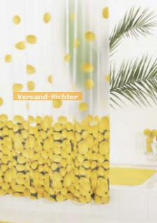 Duschvorhang BATEX ZITRONE Vinyl, 180 x 200 cm, gelb