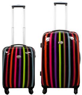 Kofferset 2 tlg. Trolleyset Reisekoffer ABS Hartschale ASMARA