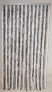 Türvorhang Flauschvorhang silber/weiß (56 x 200 cm kürzbar)