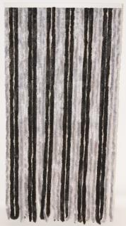 Türvorhang Flauschvorhang silber/anthrazit (56 x 200 cm kürzbar)