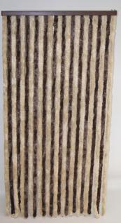 Türvorhang, Flauschvorhang braun/beige (100 x 200 cm, kürzbar)