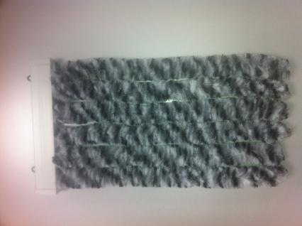 Türvorhang Flauschvorhang weiss/grau/schwarz (100 x 200 cm kürzbar)