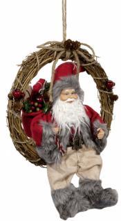 Weihnachtsmann NORBERT 30cm im Kranz