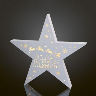 LED-Stern Weihnachtsmann/Schlitten 20 BS