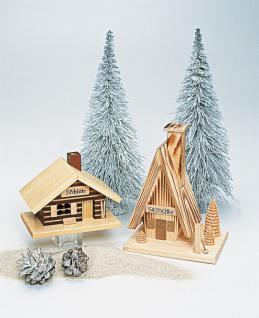Echt Erzgebirge Räucherhaus - Skihütte klein