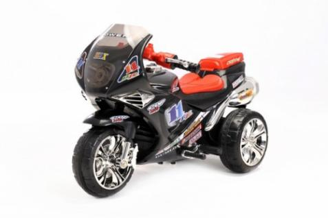 Kinder Elektrofahrzeug Motorrad Sport Schwarz - 6V