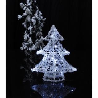 LED-Tannenbaum, 16 weiße LEDs, Acryl