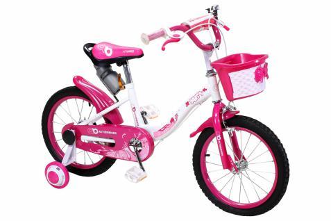 Kinder Fahrrad Daisy 16 Zoll Pink, Mädchenfahrrad