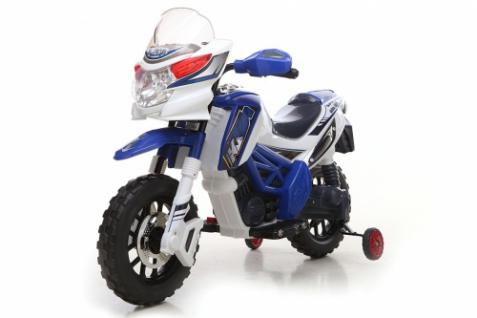 Kinder Elektrofahrzeug Motorrad Blau - 6V