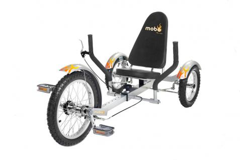 Mobo Triton Cruiser Pro Liegefahrrad Kinderdreirad - SILBER - ab 12 Jahre bis Erwachsene