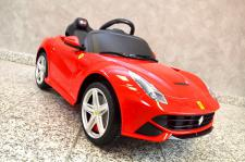 "Kinderfahrzeug - Elektro Auto "" Ferrari F12 Berlinetta"" - lizenziert - 12V7AH Akku - 2, 4Ghz Fernsteuerung, MP3"