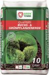 GREEN TOWER 10 x Qualitäts-Buchsbaum- und Grünpflanzenerde a 10 Liter
