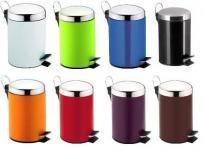 Treteimer Abfalleimer aus Metall für das Bad, 3 Liter, diverse Farben