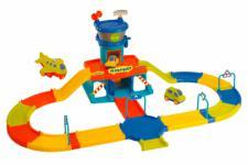 Wader First Play City FLUGHAFEN mit Strasse, Flugzeug und Autos