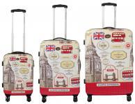 Kofferset 3 tlg. Trolleyset Reisekoffer Hartschale LONDON III