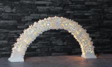 LED-Leuchter Holz Snowflake Bow weiß 11 BS