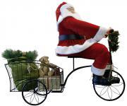animierter Weihnachtsmann Lemmy 130cm auf Dreirad