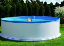Stahlwandpool Set New Splasher Schwimmbecken Swimmingpool Ø 3, 5 x 0, 9 m