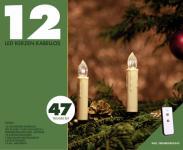LED Weihnachts-Kerzen 12er Basis-Set, kabellos + Fernbedienung, warmweiß