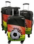 Kofferset 3tlg Reisekoffer Polycarbonat Hartschale Fußball, Fussball