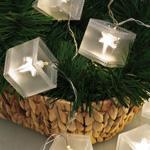 LED-Minilichterkette, Holografiequadrate, 10 warmweiße LEDs