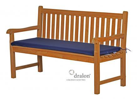 Bankauflage aus Dralon 130x47 cm aus hochwertigem Dralon 5 cm dick von Kai Wiechmann® / Polster Kissen Auflage für Bank
