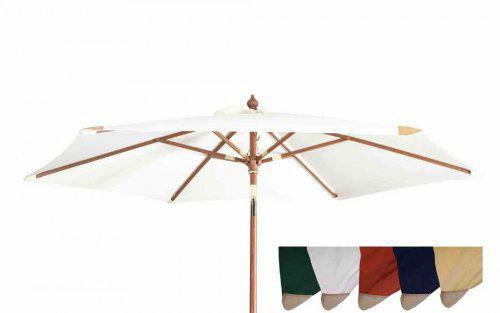 Robuster Sonnenschirm ø 240 cm von Kai Wiechmann® / Sonnendach/ Gartenschirm/ Schirm/ Gartenmöbel/ Marktschirm
