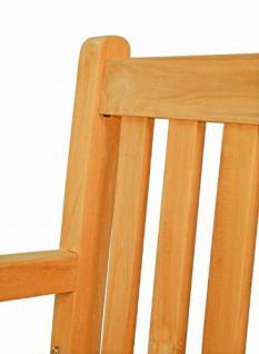 """Massiver Sessel aus der Serie """"Andorra"""" hochwertig gefertigt aus Teakholz mit Armlehne und Rückenlehne von Kai Wiechmann® / Stuhl/ Gartenstuhl/ Gartenmöbel/ Gartensessel/ Teak-Sessel - Vorschau 3"""