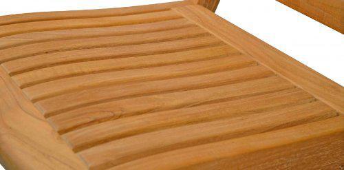 """Eleganter Klappstuhl aus der Premium-Serie """"Brighton"""" gefertigt aus Teakholz ohne Armlehne von Kai Wiechmann®/ perfekte ergonomische Rücken- und Sitzfläche/ Sessel/ Stuhl/ Gartenstuhl/ Gartenklappstuhl/ Premium- Qualität - Vorschau 2"""