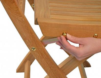 """Eleganter Klappstuhl aus der Premium-Serie """"Brighton"""" gefertigt aus Teakholz ohne Armlehne von Kai Wiechmann®/ perfekte ergonomische Rücken- und Sitzfläche/ Sessel/ Stuhl/ Gartenstuhl/ Gartenklappstuhl/ Premium- Qualität - Vorschau 3"""