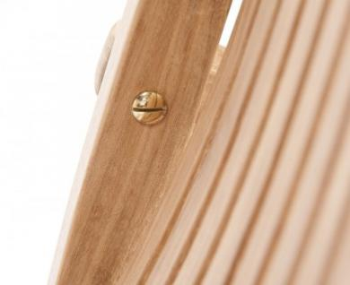 """Eleganter Klappstuhl aus der Premium-Serie """"Brighton"""" gefertigt aus Teakholz mit Armlehne von Kai Wiechmann® / perfekte ergonomische Rücken- und Sitzfläche/ Gartenmöbel/ Sessel/ Stuhl/ Gartenstuhl/ Gartenklappstuhl/ Premium- Qualität - Vorschau 3"""