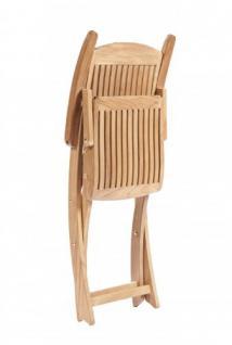 """Eleganter Klappstuhl aus der Premium-Serie """"Brighton"""" gefertigt aus Teakholz mit Armlehne von Kai Wiechmann® / perfekte ergonomische Rücken- und Sitzfläche/ Gartenmöbel/ Sessel/ Stuhl/ Gartenstuhl/ Gartenklappstuhl/ Premium- Qualität - Vorschau 4"""