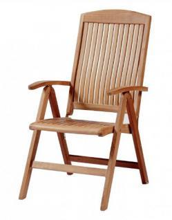 """Eleganter Hochlehner aus der Premium-Serie """"Brighton"""" von Kai Wiechmann® , Teakholz, 7-fach verstellbare Messingbeschläge/ perfekte ergonomische Rücken- und Sitzfläche/ Gartenmöbel/ Stuhl/ Gartenstuhl/ Liegestuhl/Premium- Qualität - Vorschau 1"""