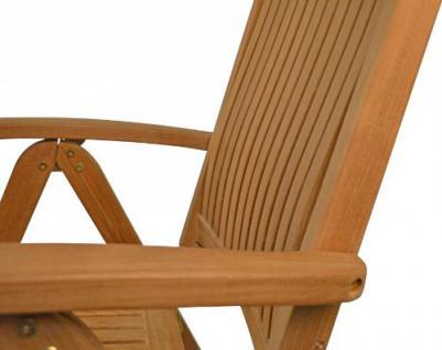 """Eleganter Hochlehner aus der Premium-Serie """"Brighton"""" von Kai Wiechmann® , Teakholz, 7-fach verstellbare Messingbeschläge/ perfekte ergonomische Rücken- und Sitzfläche/ Gartenmöbel/ Stuhl/ Gartenstuhl/ Liegestuhl/Premium- Qualität - Vorschau 2"""
