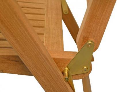 """Eleganter Hochlehner aus der Premium-Serie """"Brighton"""" von Kai Wiechmann® , Teakholz, 7-fach verstellbare Messingbeschläge/ perfekte ergonomische Rücken- und Sitzfläche/ Gartenmöbel/ Stuhl/ Gartenstuhl/ Liegestuhl/Premium- Qualität - Vorschau 3"""