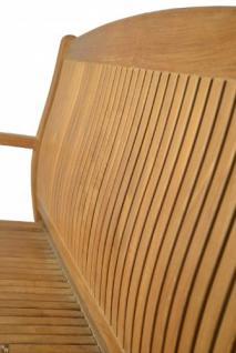 """Elegante Gartenbank aus der Premium-Serie """"Brighton"""" gefertigt aus Teakholz 120 cm perfekt ergonomisch geformt von Kai Wiechmann® / Gartenmöbel/ Gartenbank/ Sitzbank/ Parkbank/ Holzbank/ Teak-Bank - Vorschau 2"""