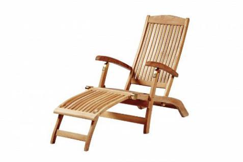 eleganter deckchair aus der premium serie brighton gefertigt aus teakholz von kai wiechmann. Black Bedroom Furniture Sets. Home Design Ideas