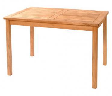 """Massiver Gartentisch aus der Serie """"London"""" hochwertig gefertigt aus Teakholz 120 x 80 cm von Kai Wiechmann® / Holztisch/ Teak-Tisch/ Esstisch/ Gartenmöbel/ rechteckig"""