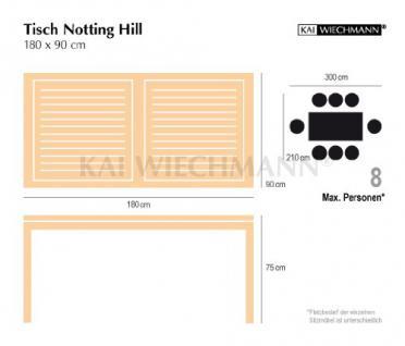 """Moderner Design Gartentisch aus der Premium-Serie """"Notting Hill"""" gefertigt aus Teakholz 180x90 cm von Kai Wiechmann® / Teak-Tisch/ massiv/ Esstisch/ quadratisch/ Premium-Qualität - Vorschau 5"""