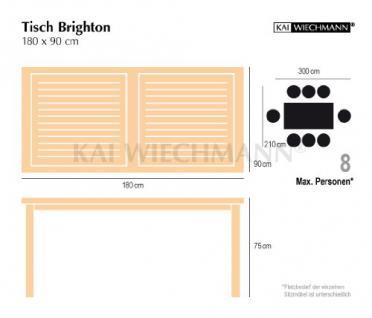 """Eleganter Gartentisch aus der Premium-Serie """"Brighton"""" gefertigt aus Teakholz 180x90 cm von Kai Wiechmann® / Teak-Tisch/ Holztisch/ Gartenmöbel/ massiv/ rechteckig/ Esstisch/ Premium-Qualität - Vorschau 5"""